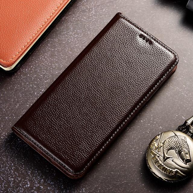Retro Litch Genuine Leather Case For Motorola Moto G5 G5S G6 G7 G8 E3 E4 E5 E6 E7 Plus Play Power Mobile Phone Flip Cover Cases