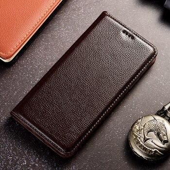 Retro Litch Genuine Leather Case For XiaoMi Mi Max 2 3 Mix 2 2s 3 Poco F1 F2 M2 Pro Black Shark 1 Mobile Phone Flip Cover Cases
