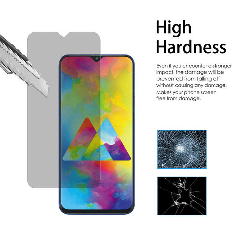 Anti-Glare Anti-Spy Screen Protector untuk LG V40 V35 V20 V10 Kaca Pelindung untuk LG K10 Tempered kaca untuk LG Q7 Q6 Kebijakan
