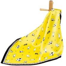 Шарф из чистого шелка, женский шарф, платок для кошек, платок для волос, шелковый шарф для шеи, бандана для мужчин, квадратный шелковый женский платок на голову
