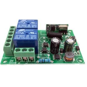 Image 2 - 433MHz 차고 문을위한 보편적 인 무선 원격 제어 AC 110V 220V 2 채널 릴레이 수신기 전기 문 커튼 빛 Led