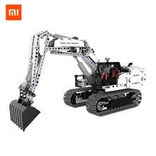 Xiaomiวิศวกรรมยานพาหนะอาคารบล็อกของเล่นรถรถบรรทุกรถขุดยกMechanicalรถก่อสร้างของเล่นเด็ก