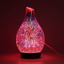 купить 3D Glass Colorful Fireworks Oil Lamp Aromatherapy Machine Humidifier Factory Direct Supply Table Home Aromatherapy Humidifier по цене 1431.58 рублей