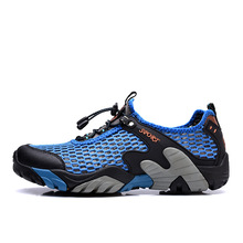 Breathable lightweight outdoor mens casual sports shoes summer net foot set upstream wading