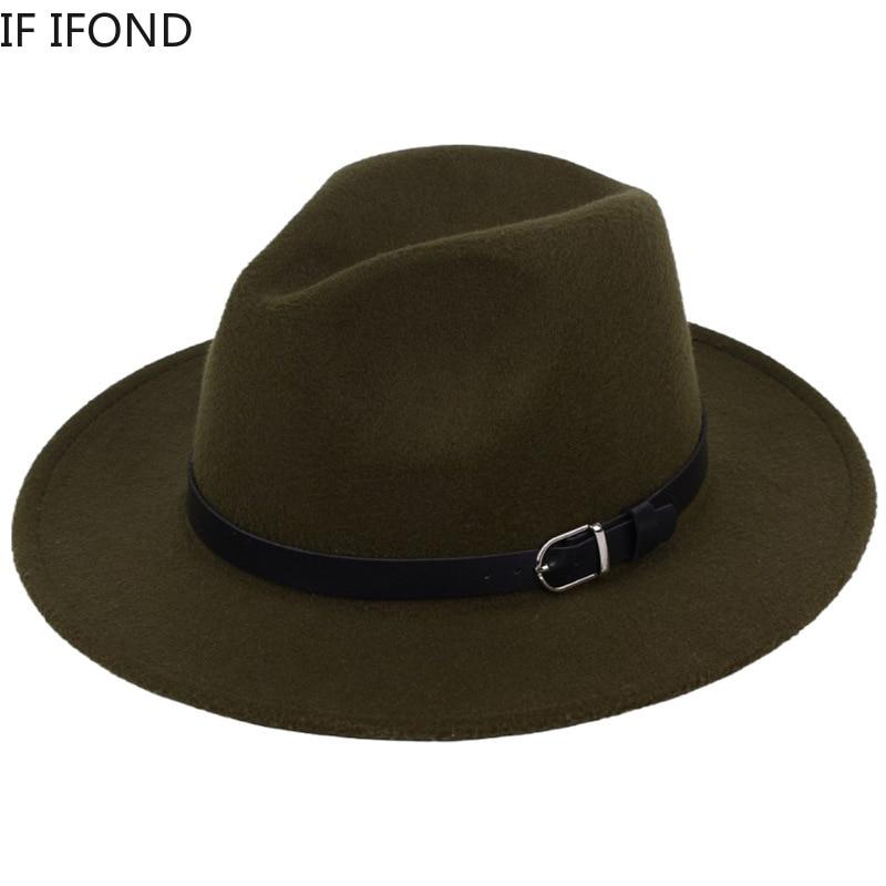 Classic British Fedora Hat Men Women Imitation Woolen Winter Felt Hats Men Fashion Jazz Hat Fedoras Chapeau wholesale 4
