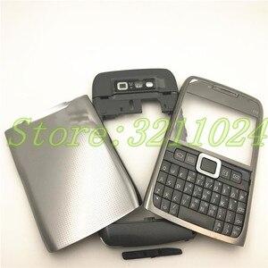 Image 3 - نوعية جيدة الأصلي الكامل كاملة الهاتف المحمول بطارية مبيت غطاء لعلامة نوكيا E71 + لوحة المفاتيح الإنجليزية + شعار