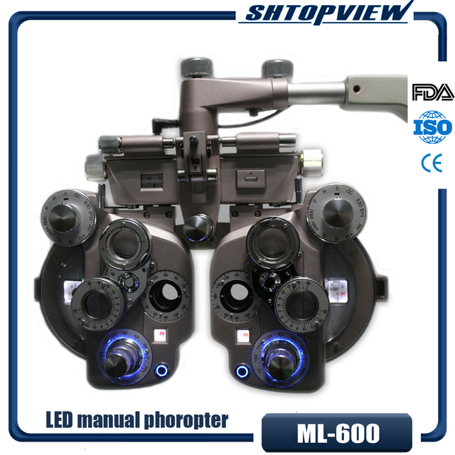 ML 600 LED light colorful manual phoropter with high quality