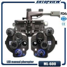 ML 600 LED אור צבעוני ידני phoropter עם באיכות גבוהה