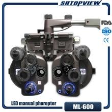 ML 600 Đèn LED Nhiều Màu Sắc Bằng Tay Phoropter Với Chất Lượng Cao