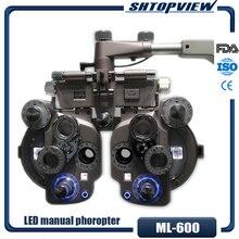 ML 600 phoropter manual colorido con luz LED de alta calidad