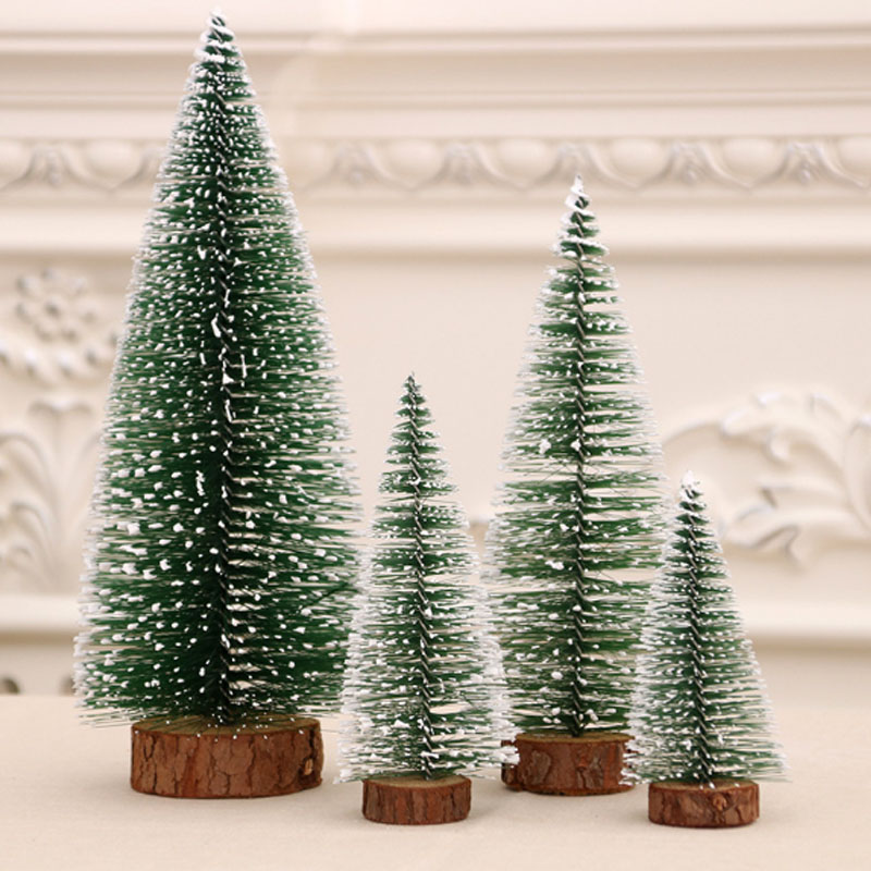 Mini Christmas Tree Festival Home Office Party Ornaments Xmas Decoration Gift Placed In The Desktop image