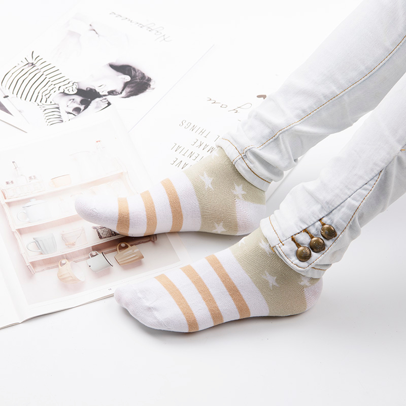 H5b4b13a6ffdc4ef2a708cebdd822ef4eM - Cotton Boat Socks Woman Stars Stripe Socks ankle low female invisible color girl boy slipper casual hosiery  1pair=2pcs ws106
