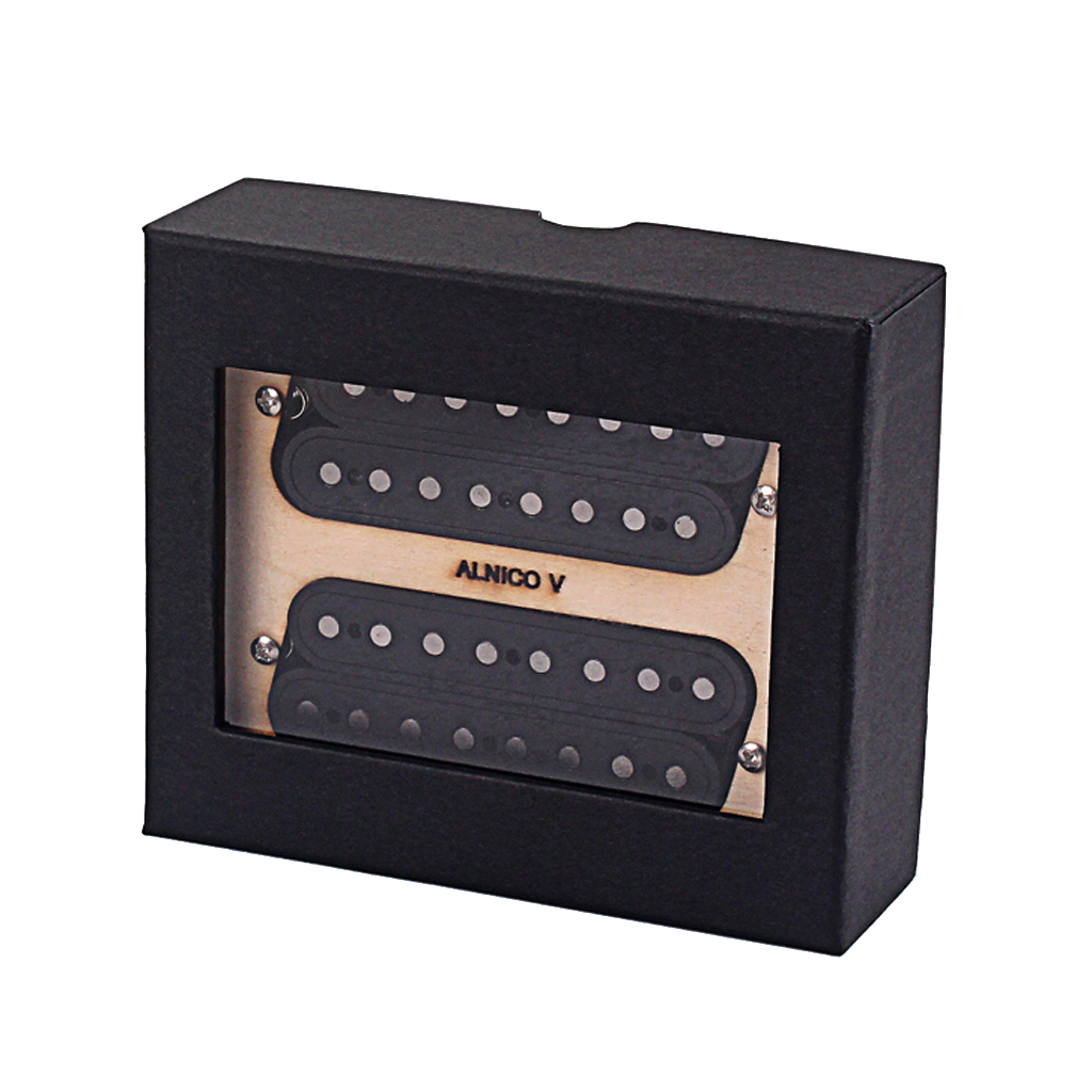 Set Of 2pcs Alnico V Guitar Neck And Bridge 8 String Pickup Black