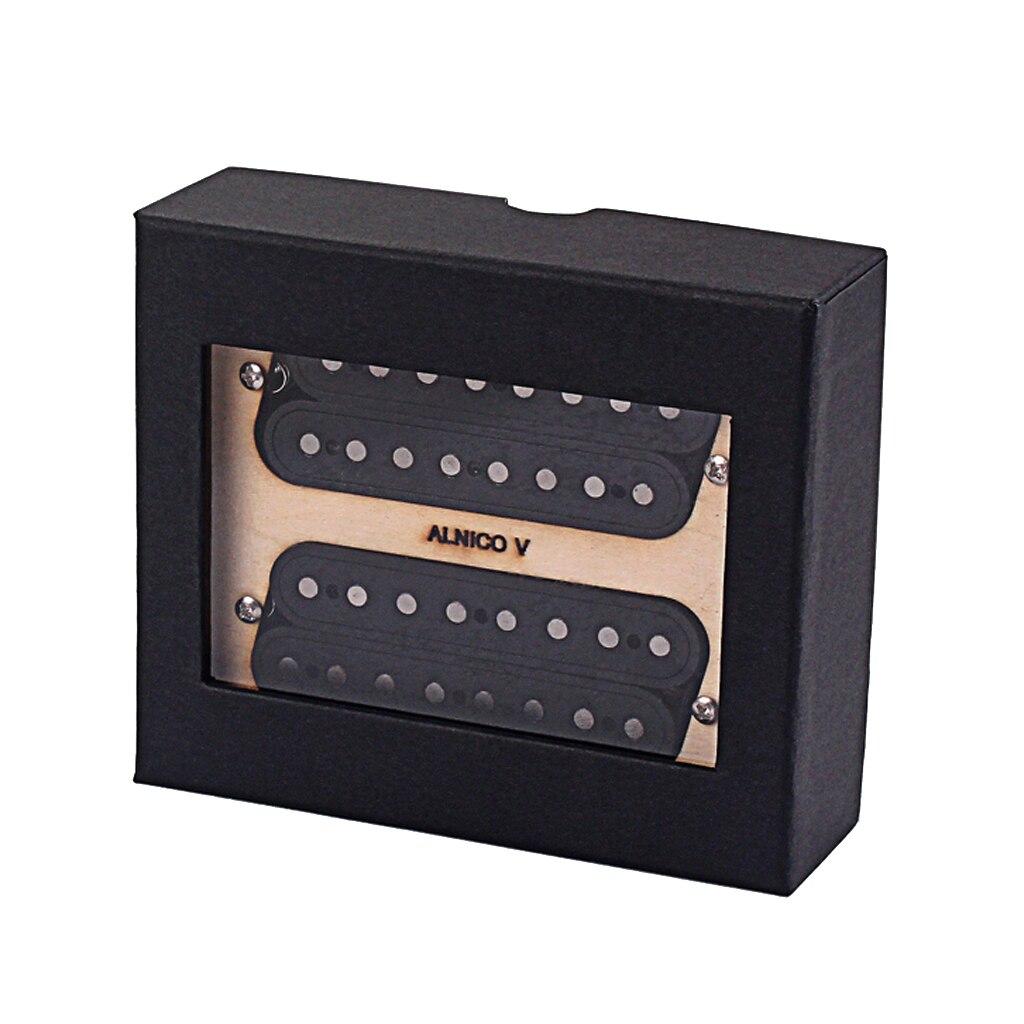 Lot de 2 pièces Alnico V guitare cou et pont 8 cordes pick-up noir