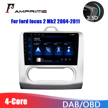 AMPrime 9'' Android 9.1 Car Multimedia MP5 Video player For ford focus 2 Mk2 2004-2011 GPS 2 din Car Autoradio Radio Navigation image