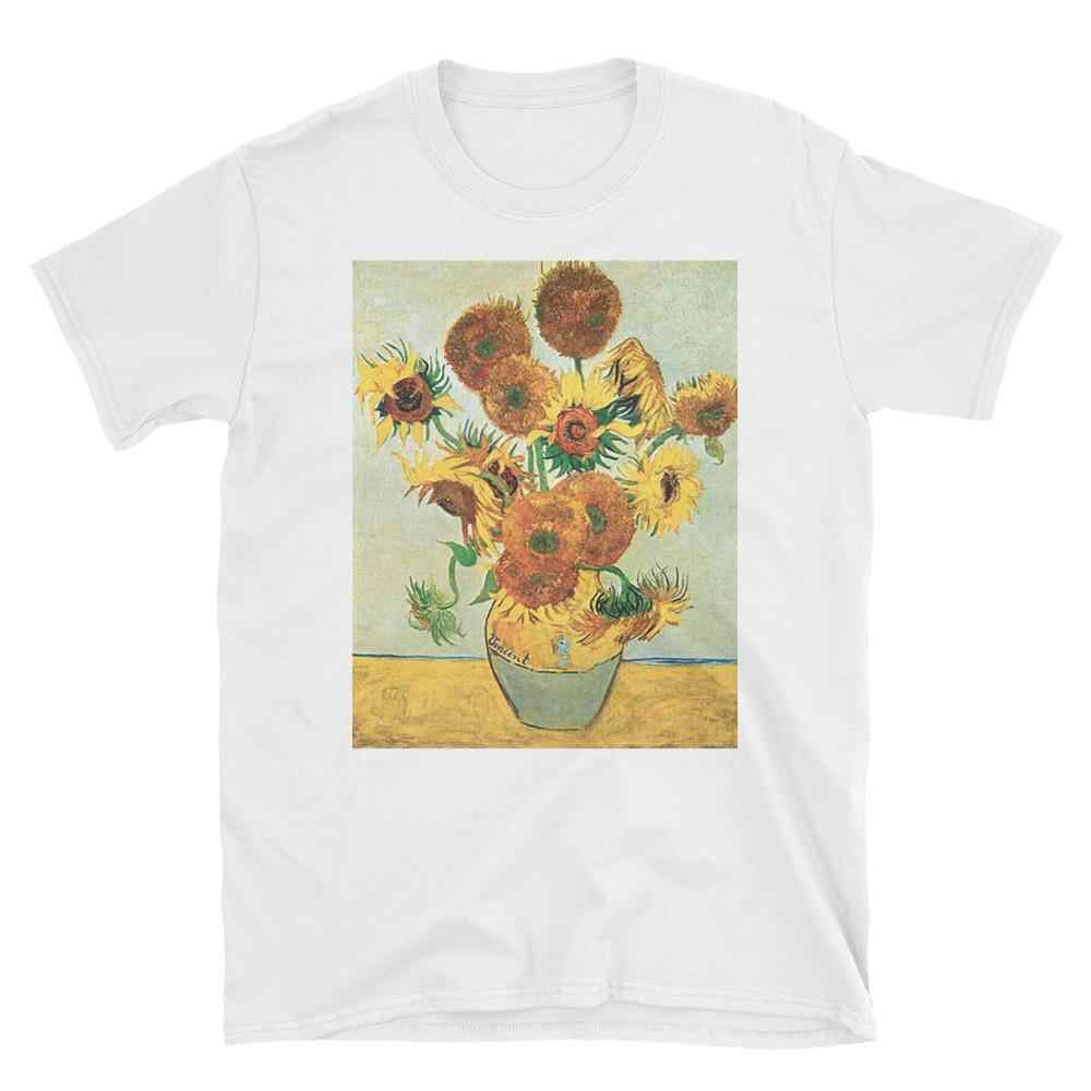"GAAJ ""sunflower vincent van gogh"" T Shirt Women O Neck Tops Woman T-Shirt Clothes 2019 New Solid Loose Women Lovers 35418#"