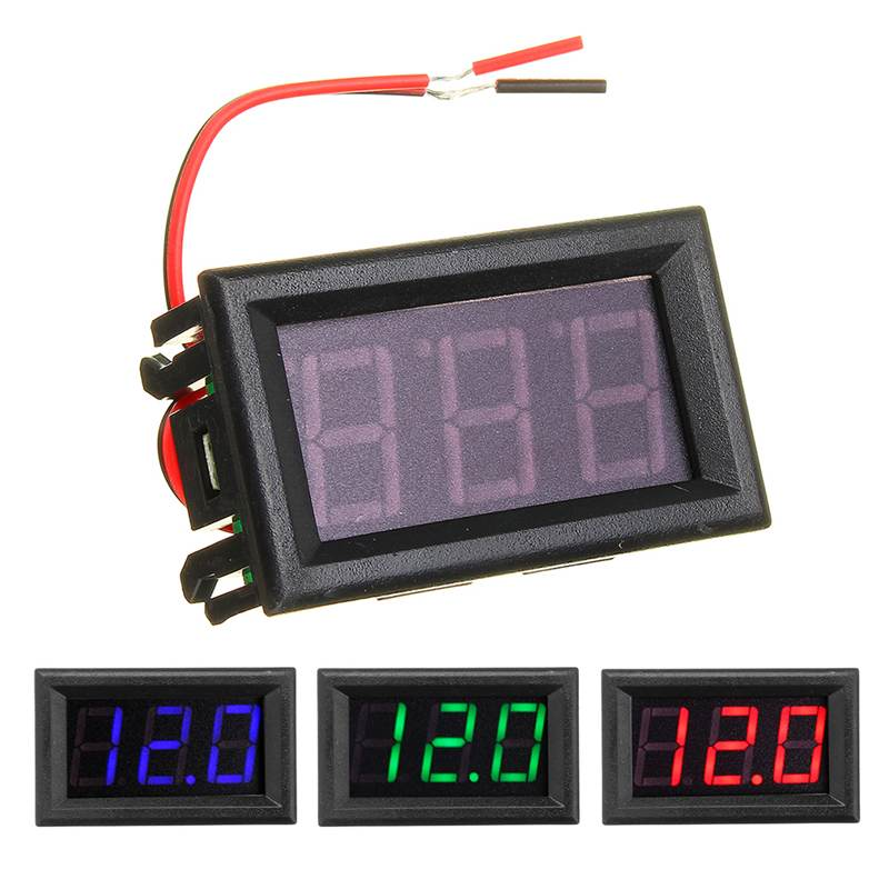 0.56 Inch Mini Digital Voltmeter DC 4.5V To 30V Digital Voltmeter Voltage Panel Meter 6V 12V <font><b>24V</b></font> Electromobile Motorcycle image
