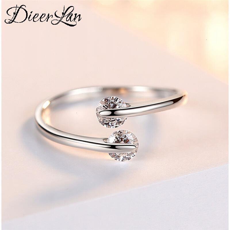 Anillos de cuentas de cristal Plata de Ley 925 100% auténtica para mujer, anillos para dedos grandes, joyería Unisex