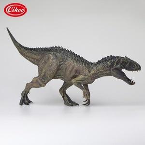 Image 2 - الكلاسيكية محاكاة الديناصورات اللعب إندومينوس ريكس نموذج الجوراسي الحيوان ديناصور بك عمل الشكل لعبة الهدايا