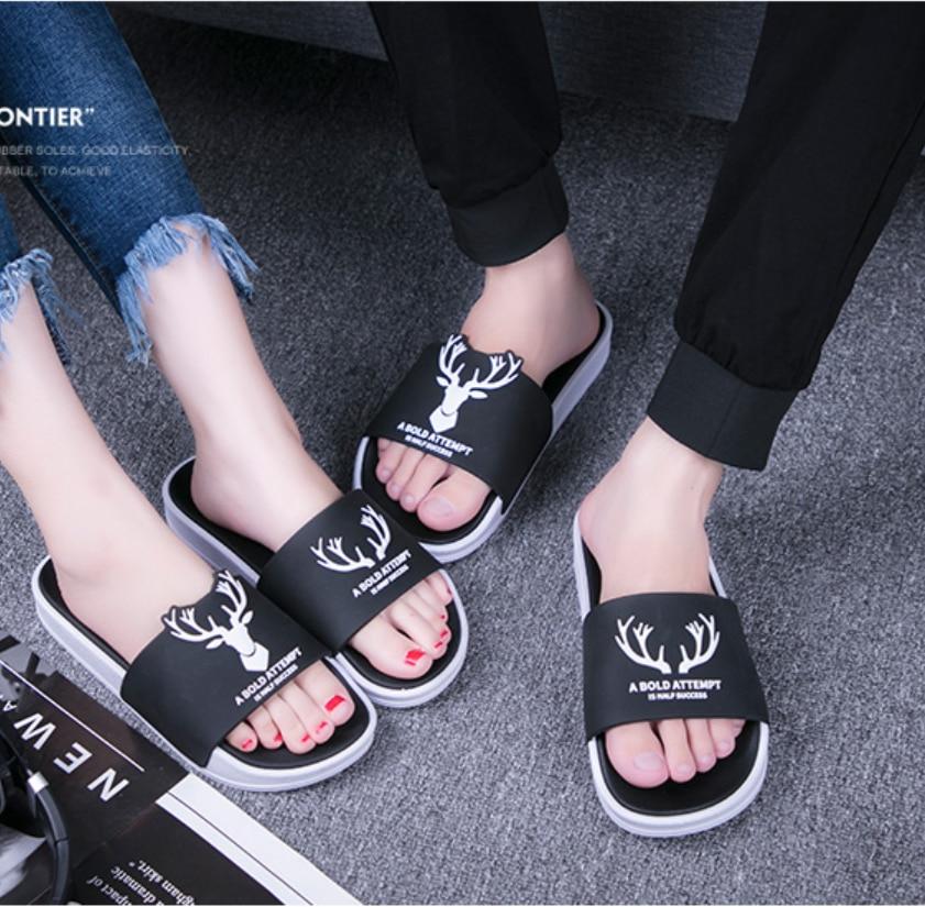 Cartoon Cute Unicorn Pattern Summer Slide Slippers For Men Women Kid Indoor Open-Toe Sandal Shoes