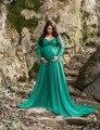 Длинные платья для беременных с V-образным вырезом для фотосъемки
