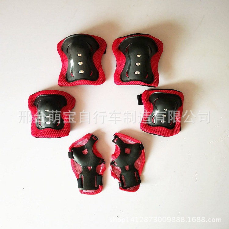 Children Skating Roller Skating Protective Gear Knee And Elbow Pad Hand Guard Scooter Roller Skates Wheel Skateboard Kneecap Six