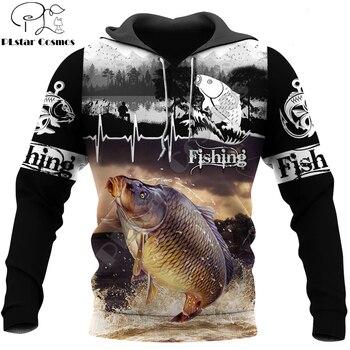 Carp fishing hoodie with lifeline