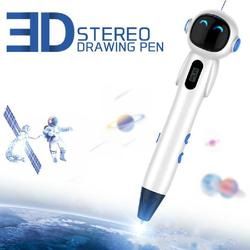 Robot 3D pióro do dekorowania nowa astronauta Puzzle trójkolorowe trójwymiarowe pióro do dekorowania w wysokiej temperaturze wersja długopis do malowania