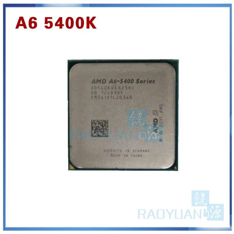 AMD A-Series A6 5400 A6 5400B A6-5400K A6 5400K 3.6Ghz 65W Dual-Core CPU Processor AD540KOKA23HJ AD540BOKA23HJ Socket FM2