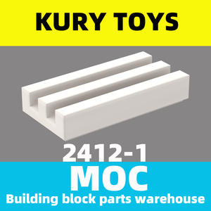 Building-Block-Parts Tile Kury-Toys MOC DIY for 2412 1x2-Grille Modified-Plate