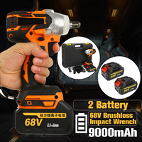 68V 9000mAh 320N.m Cordless Lithium Ion Electric Impact Wrench Brushless Motor 2 Battery With Charge Power Tools
