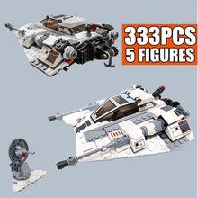 Novo 333 pçs 20th edição star space ship série guerras snowspeeder snowfield aeronaves caber blocos de construção tijolos presente do miúdo brinquedos
