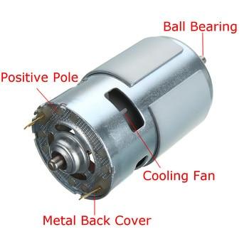 Motor de CC de 12v-36v, rodamiento de bolas de 775 -- 3500 Rpm, alto par, alta potencia, bajo nivel de ruido, gran oferta, Motor de componentes electrónicos # K, 9000