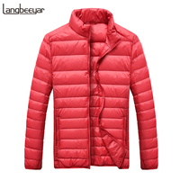 2019 Winter Fashions Brand Down Jacket Mens 90% Duck Down Streetwear Feather Coats Ultralight Packable Warm Mens Clothing
