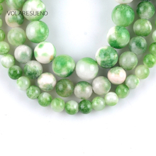 Natural Green Persian Jades Stone Round Loose Beads For Jewelry Making 6-10mm Spacer Beads Fit Diy Bracelet Necklace 15'' Strand natural fuchsia persian jades stone round loose beads for jewelry making 6 10mm spacer beads fit diy bracelet necklace 15