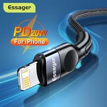 Essager – câble USB type c pour recharge rapide et transfert de données, cordon de chargeur pour téléphone iPhone/iPad/12/11/Pro/Max/Xs/X/PD 20W, 2M