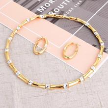 Viennes komplet biżuterii damskiej Baboom Design naszyjnik kolczyki Hoop Mix kolczyki w kolorze Party biżuteria