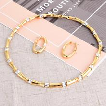 Viennois  Jewelry Set For women Baboom Design Necklace Hoop Earrings Mix Color Earrings Party Jewelry