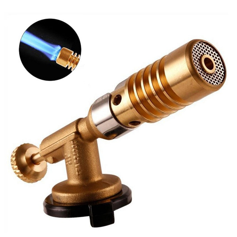 Gas Torch Flame Tool Blowtorch Copper Flame Butane Gas Lighter Heating Welding For Outdoor Camping BBQ R