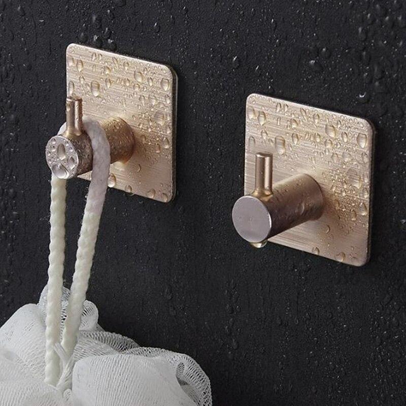 Клейкая алюминиевая вешалка для полотенец из сплава, семейные крючки для халата, подвесная сумка для шляп, семейная сумка для шляп, самоклеющаяся настенная вешалка для ключей