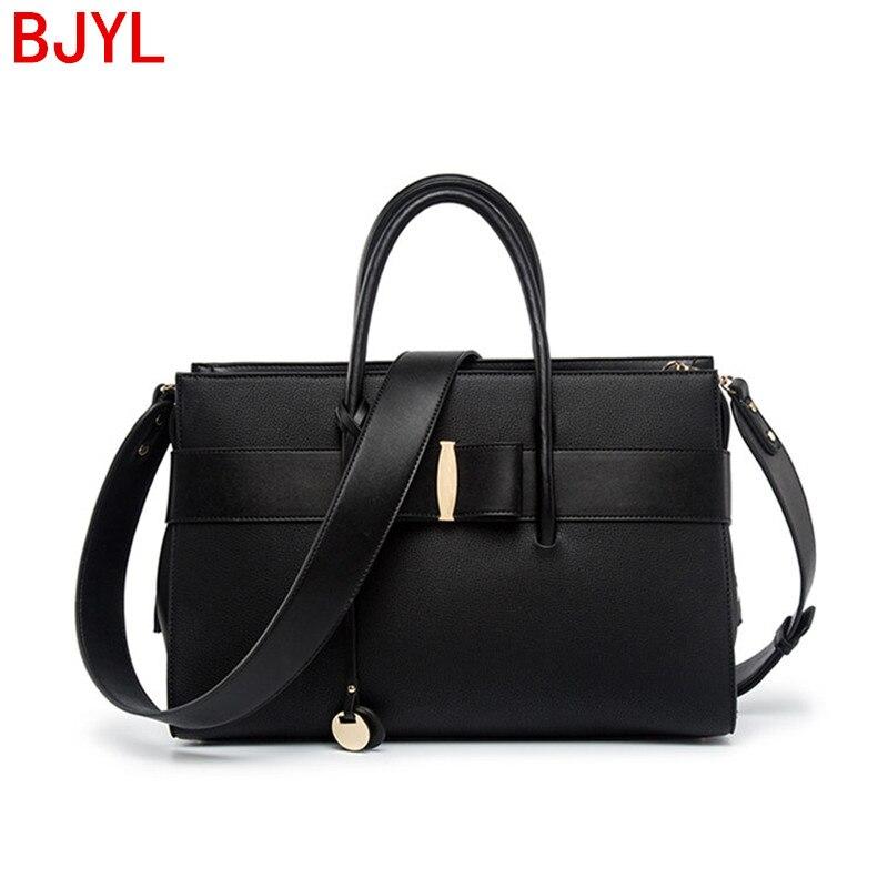 Luxury Fashion Women Handbag Document File Tote Bag Leather Laptop Bag Billiard Shoulder Messenger Bag Female Wild Briefcases