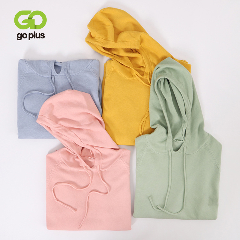 GOPLUS Women's Sweater Korean Style Womens Clothing Jumper Oversized Sweaters Hooded Pullovers Swetry Damskie Pull Femme C9639