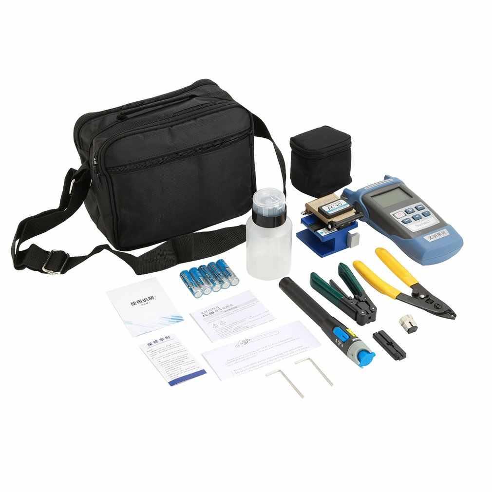 Kit de herramientas ópticas para FTTH con cuchilla de fibra de FC-6S y medidor de potencia óptica 5km localizador de fallas visuales pelador de fibra