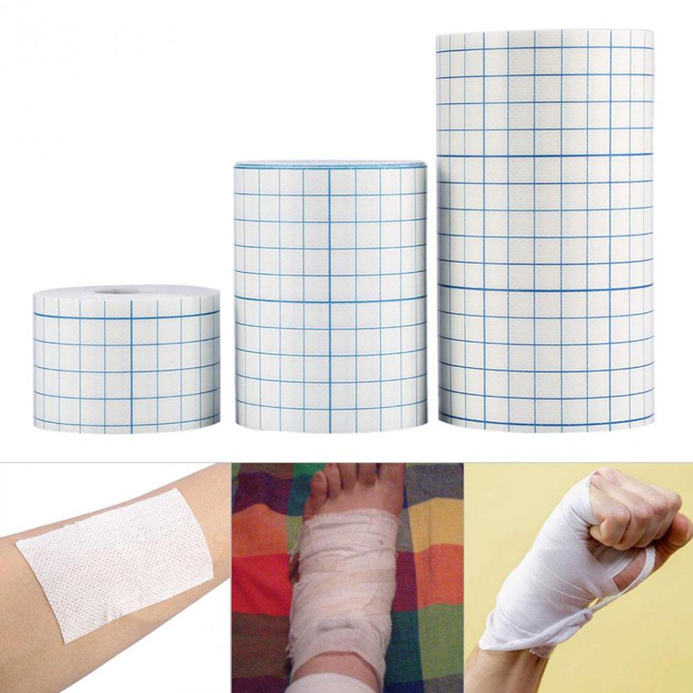 1 Roll Medical Non-woven Tape Adhesive Plaster Breathable Patches Bandage First Aid Hypoallergenic Wound Dressing Fixation Tape