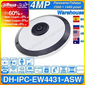 Image 1 - Dahua IPC EW4431 ASW 4MP Panorama POE WIFI 360 Fisheye IP Camera Built in MIC SD Card Slot Audio Alarm Interface