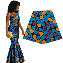 Ankara African prints batik patchwork real dutch wax 100% cotton Africa block sewing cloth for party dress 6yards high quality