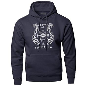 Odin Vikings Hoodies Men Sweatshirts Scandinavian Runes Hooded Sweatshirt Sons Of VikingWinter Autumn Valhalla Sportswear Mens 1