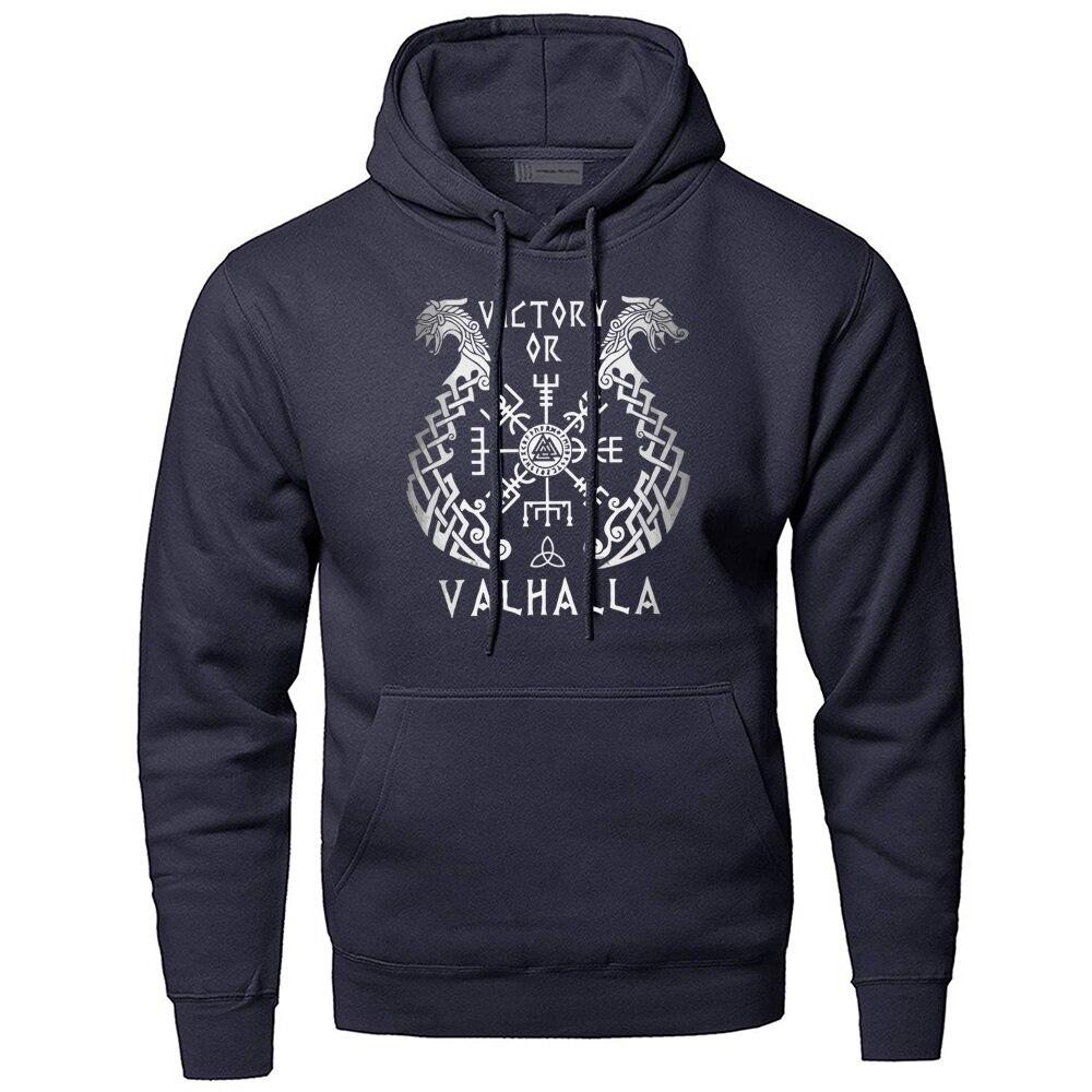 Odin Vikings Hoodies Men Sweatshirts Scandinavian Runes Hooded Sweatshirt Sons Of VikingWinter Autumn Valhalla Sportswear Mens
