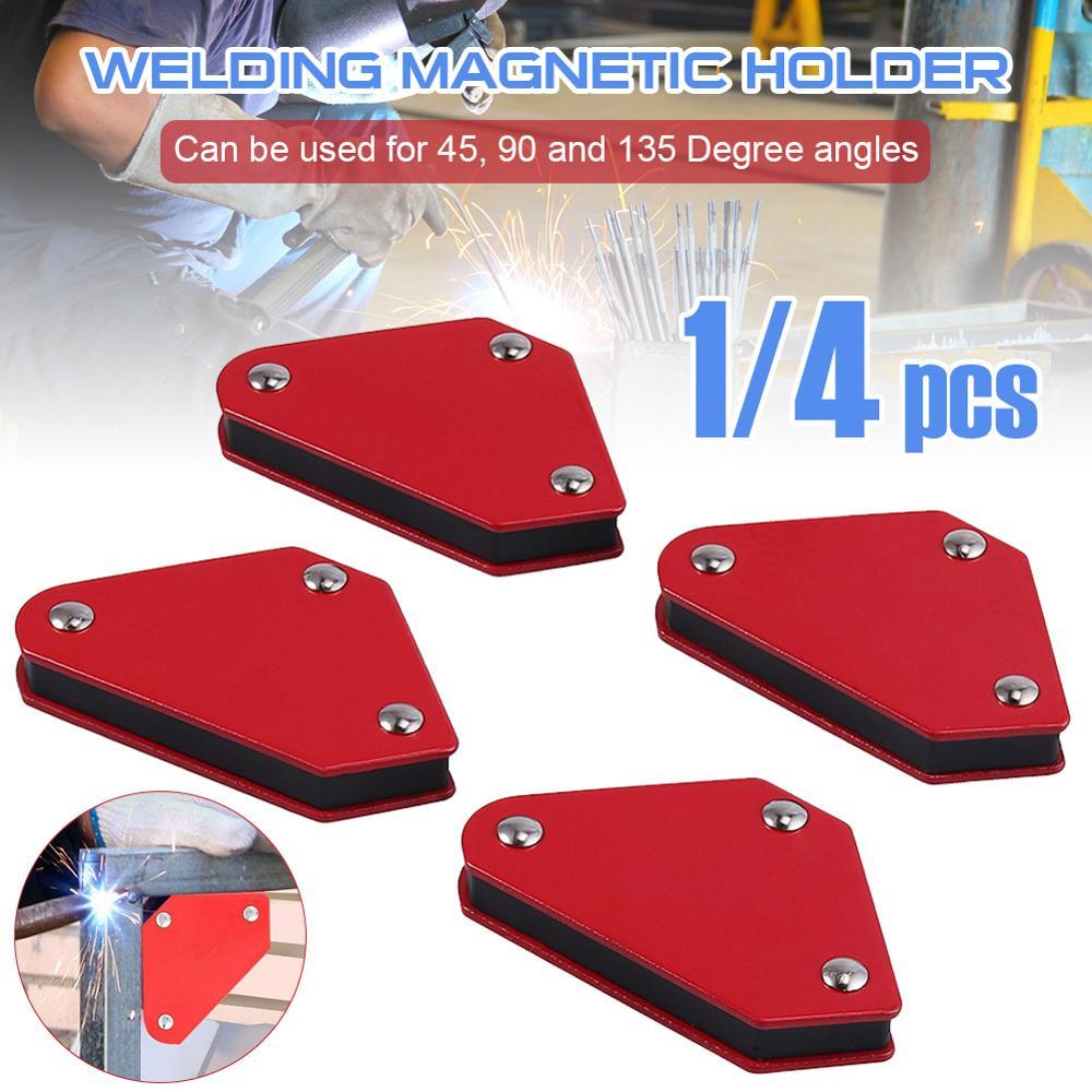 4 adet 4 kaynak mıknatıs manyetik kare tutucu ok kelepçe 45 ° 90 ° 135 ° 9lbs kapasiteli manyetik kelepçe elektrikli kaynak demir aracı