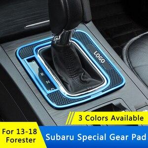 Image 2 - QHCP وسادة تروس مانعة للانزلاق للسيارة ، لوحة تروس لاتكس أوتوماتيكية ، حماية لـ Subaru Forester 2013 2018 ، ملحقات داخلية